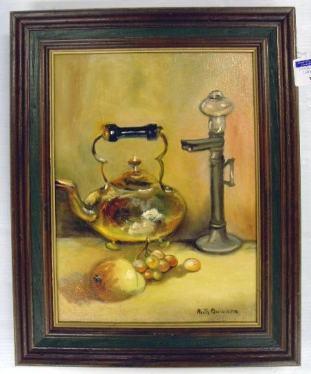 313: QUIXANO, R - SIGNED OIL PAINTING - 12 X 16 ON CANV