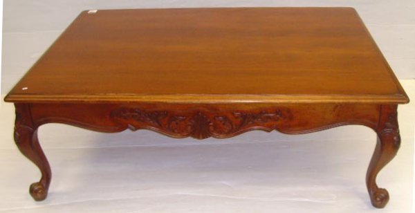 315: CARVED COUNTRY FRENCH COFFEE TABLE - 36 X 52 X 18