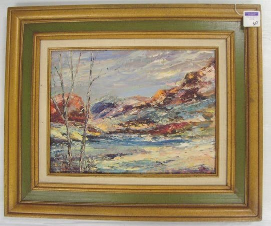 317: MAHON, R - SIGNED OIL PAINTING - 12 X 16 - ON CANV