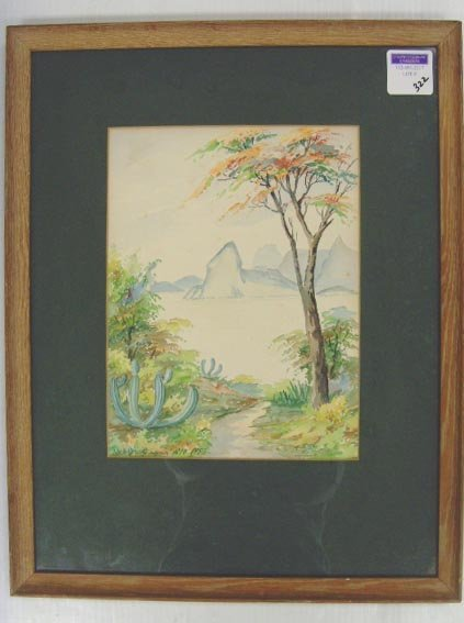 322: SIGNED REO WATERCOLOR - 9 X 11 - DATED 1953