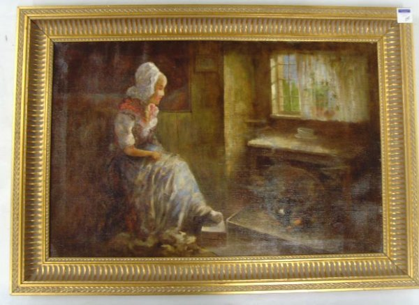 545: ARTER CHARLES SIGNED OIL PAINTING - 21 X 32 BY THE