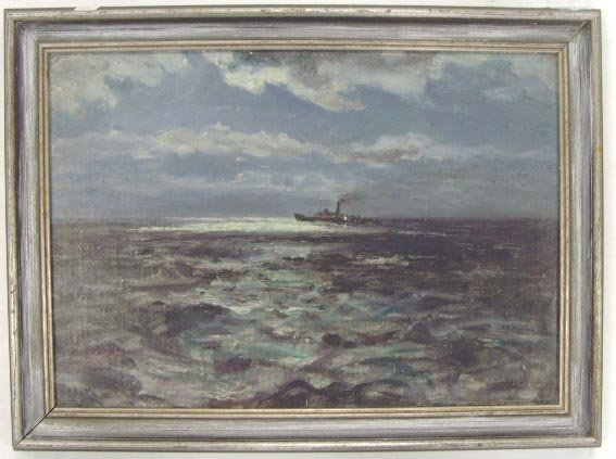 101: BUTLER, H.R. - SIGNED OIL PAINTING - SEASCAPE WITH