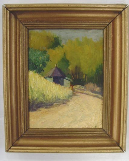 116: SIGNED IMPRESSIONIST OIL PAINTING 8 X 10 1/2 ON BO