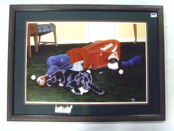 705: GRIFF SIGNED PRINT - DADDY'S BAD BOY - 20 X 30