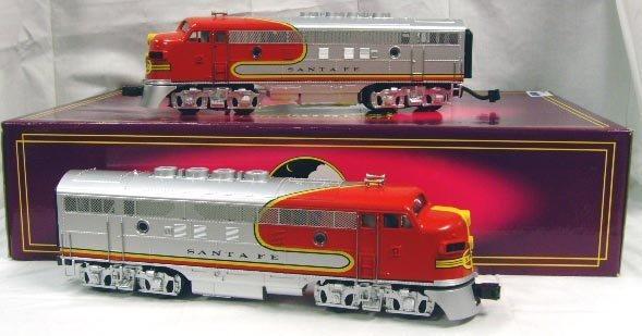 708: MTH ELECTRIC TRAINS EMDF-3 AA DIESEL SET WITH BOX