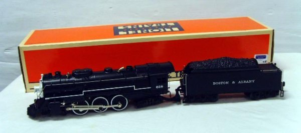 718: LIONEL TRAIN B&A HUDSON & TENDER 6-18042 WITH ORIG