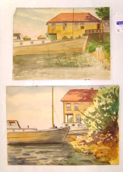 109: HENRY MARTIN GASSER - JULES ANDRUS WATERCOLOR LOT