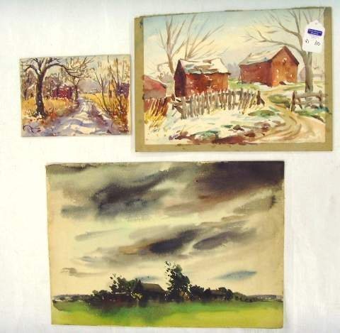 110: HENRY MARTIN GASSER WATERCOLOR GROUP LANDSCAPES WI