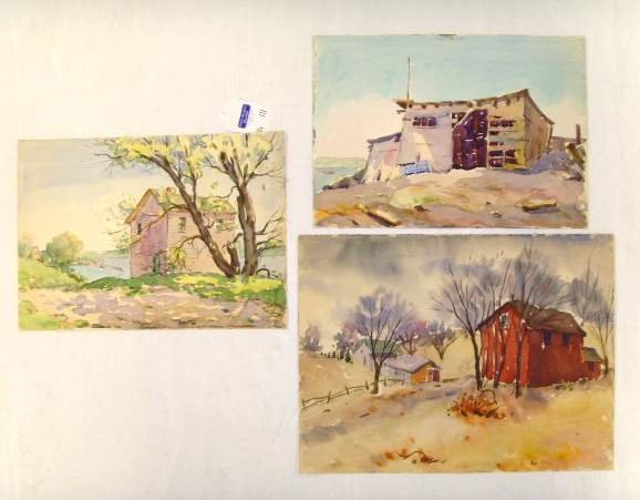 111: HENRY MARTIN GASSER WATERCOLOR GROUP LANDSCAPES WI