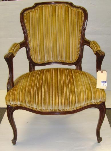 116A: CARVED FRENCH ARMCHAIR