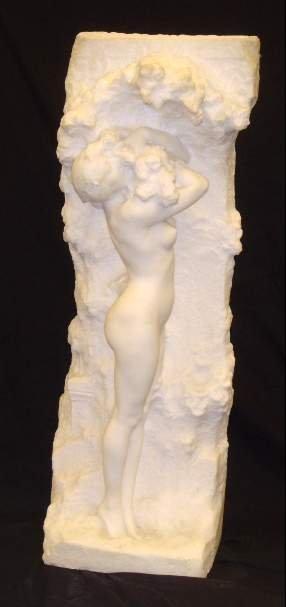 1082: FELIX M. CHARPENTIER (1858-1924, FR) WHITE MARBLE