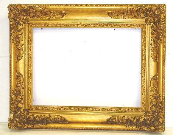1099 Large Ornate Carved Gilded Frame 40 X 50 Out