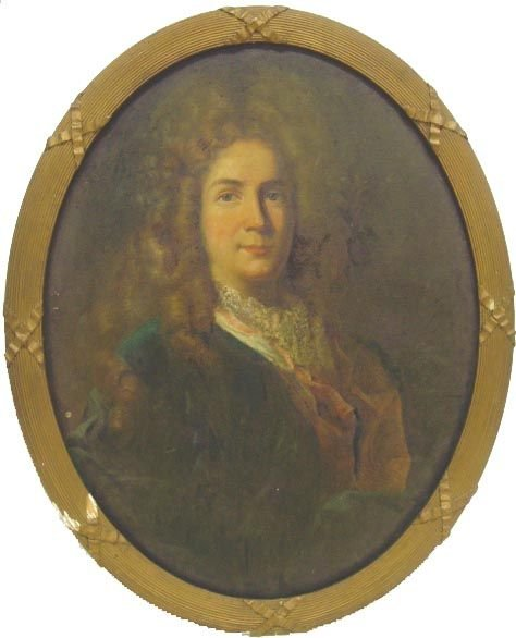 1012A: 18TH CENTURY FRENCH SCHOOL EARLY PORTRAIT OIL PA