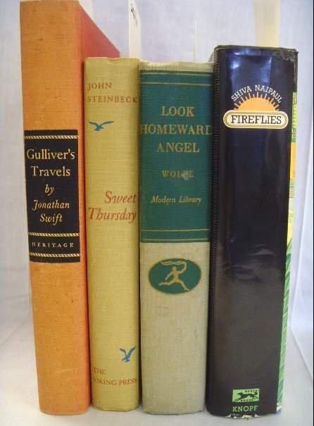 2008: LOT OF 4 BOOKS NAIPAUL,WOLF, STEINBECK, SWIFT INC