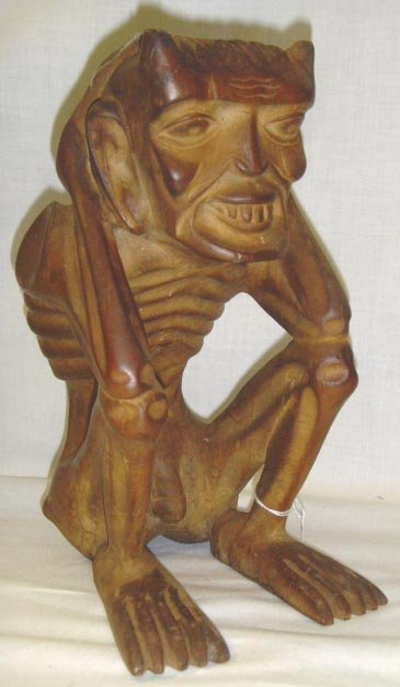 104A: CARVED ASIAN MYTHICAL FIGURE