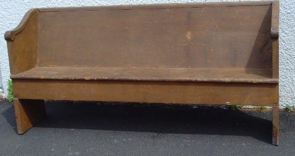 """501A: GRAIN PAINTED PRIMITIVE PINE BENCH, 70 1/2"""" X 33"""""""