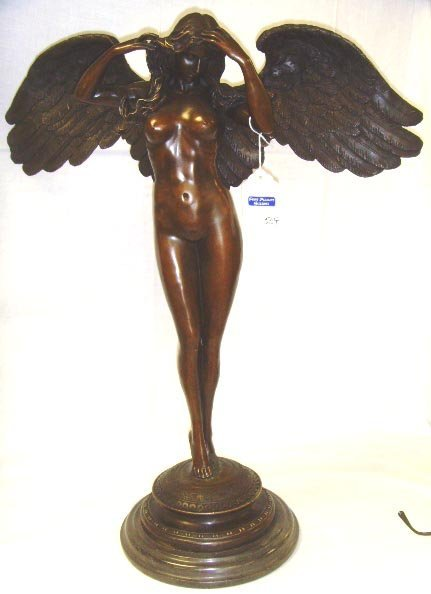 504: CLASSICAL STYLE BRONZE NUDE SCULPTURE UNSIGNED 20T