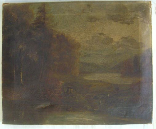 509: EARLY HUDSON RIVER OIL PAINTING - UNSIGNED UNFRAME