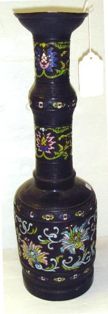 516: EARLY CHAMPLEVE VASE - 20 INCHES