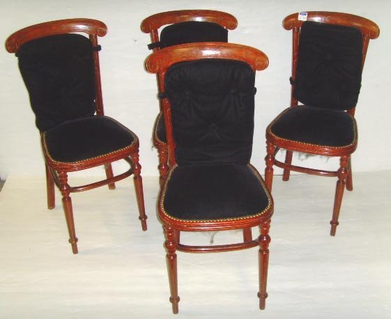 517: THONE VICTORIAN CHAIR SET - 4 PCS - REFINISHED WIT