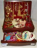 614A LARGE COSTUME JEWELRY LOT  SOME SIGNED PCS