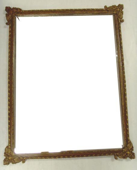 505: CARVED MIRROR - 31 X 38 1/2