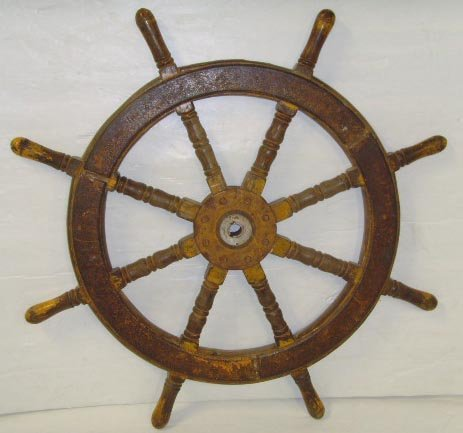 "105: WOOD SHIP WHEEL - 40 """