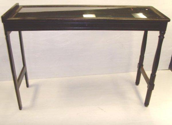 110: TABLE FORM VITRINE CABINET - 40 X 55 X 19