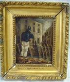 378: J. CONSTABLE ATTR.SIGNED OIL PAINTING CITYSCAPE WI