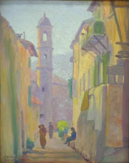 437: A.B. WRIGHT SIGNED OIL PAINTING - IMPRESSIONIST FR