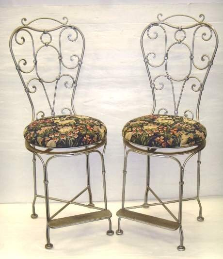 100: PAIR CONTEMPORARY SWIVEL STOOLS - 45 INCHES