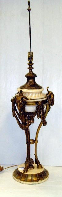 106: NEO CLASSICAL STYLE TABLE LAMP - MARBLE AND GILT M
