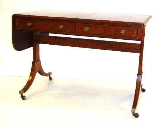 433: REGENCY PERIOD MAHOGANY WRITING TABLE