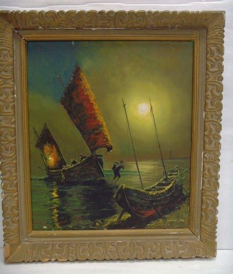 101: Yun Hi Soo signed Oil Painting