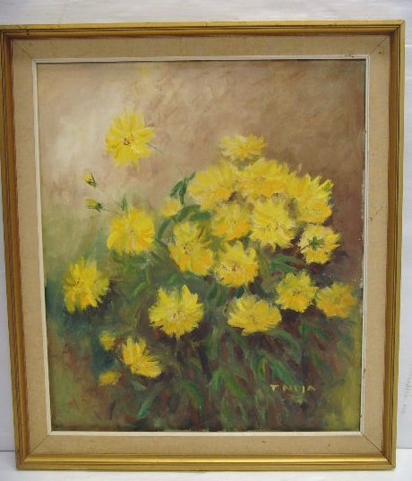 112: Tnoja signed Oil Painting