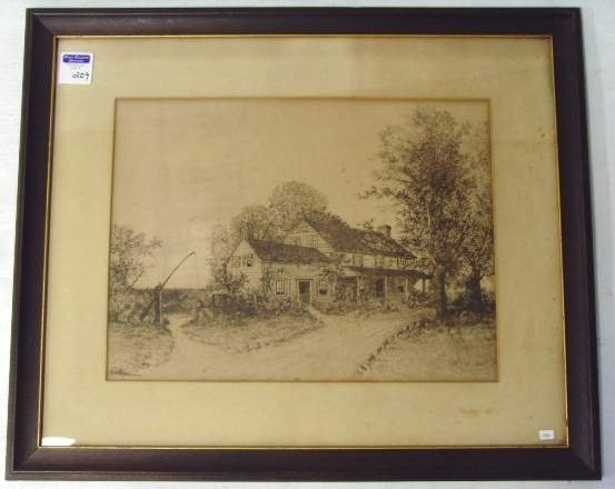 209: G.H. Randall signed Etching