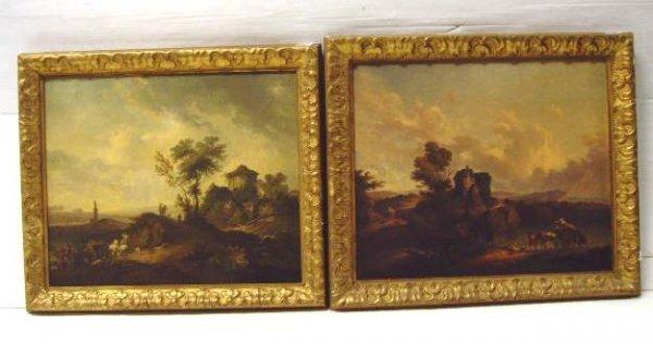 361B: Pr European School early oil paintings