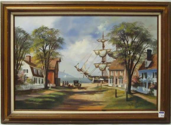 470: Lloyd Garrison signed Oil Painting