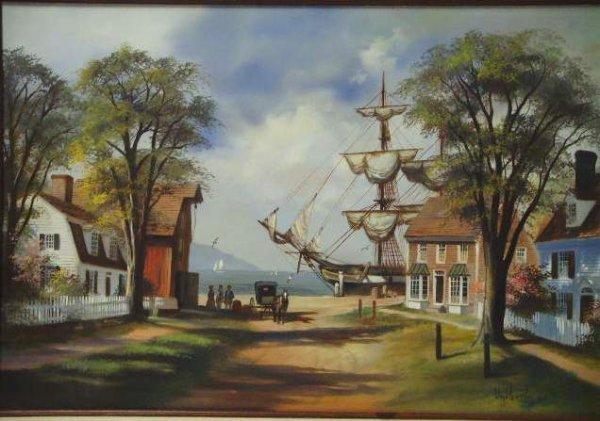 470: Lloyd Garrison signed Oil Painting - 2