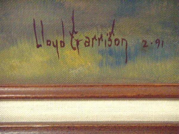 470: Lloyd Garrison signed Oil Painting - 3
