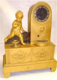 495: French Empire Period Shelf Clock Figural
