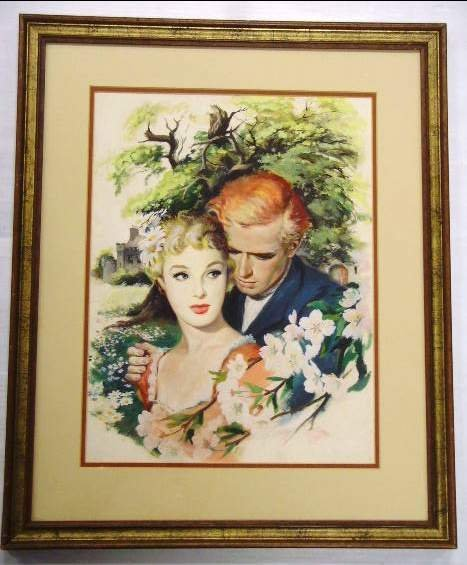 591: W. F. Rose Gouache Love Blossoms Illustration