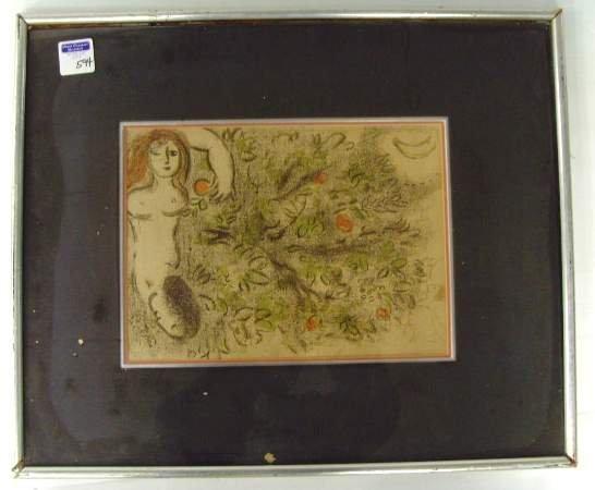 594: Chagall Lithograph