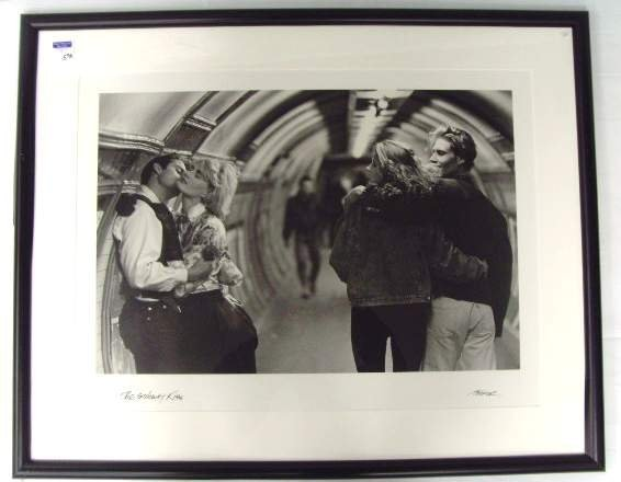 596: Cooper signed Poster - The Subway Kiss