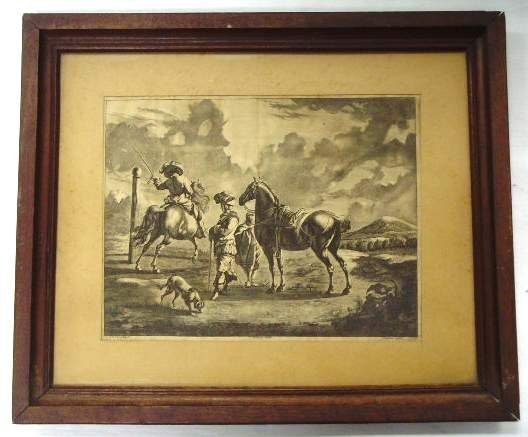 599: 19th Century Engraving Landscape