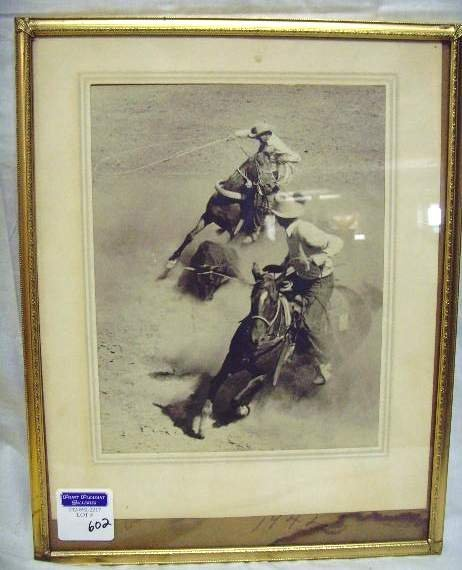 602: Vintage Rodeo Black and White Photo