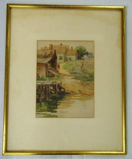 604: J.K. Thurston signed Watercolor
