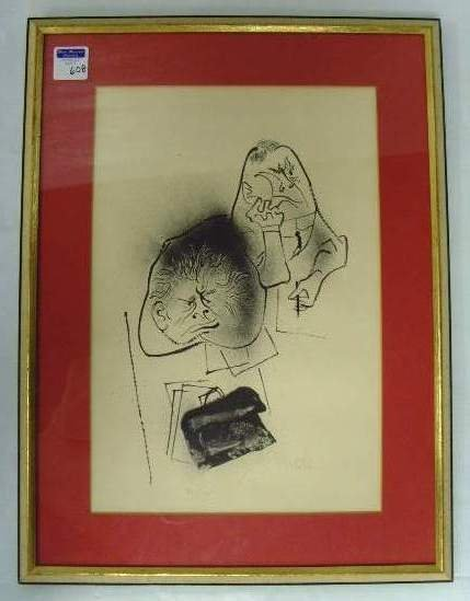 608: Gropper Signed Lithograph 36/175
