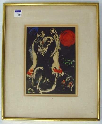 609: Chagall Lithograph