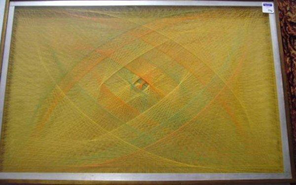996: Sue Fuller signed Framed String Composition